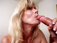 Blowjob, Facial, Mature, Blonde