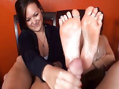 Cumshot, Foot Fetish, Threesome